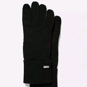 EMBOSSED SIGNATURE KNIT TOUCH GLOVES